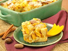 Brandies Mango Bread Pudding